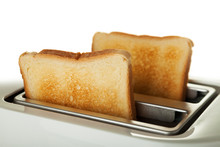 White Toaster With Two Slices ...