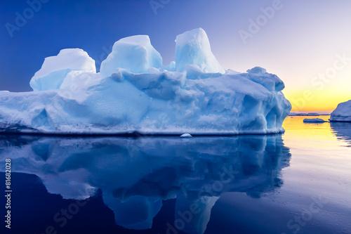 Ingelijste posters Antarctica Antarctic Glacier