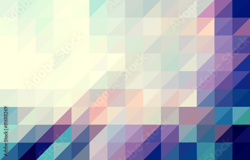 Fotografie, Obraz  Purple and blue colored triangular pattern background