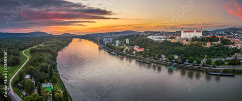 Bratislava Castle at Sunset Wallpaper Mural
