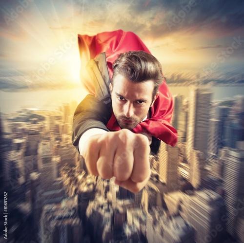 Fotografía  Superhero flies faster