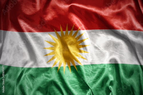Fotografie, Obraz  shining kurdish flag