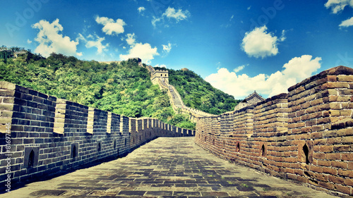 Deurstickers Chinese Muur Great Wall