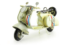 Old Retro Toy Motorcycle Isola...