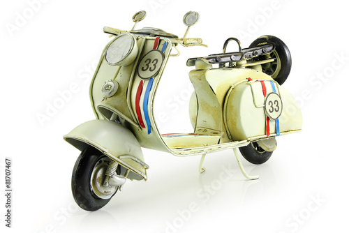 Foto op Canvas Scooter Retro toy motorcycle