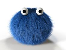 Cute Blue Furry Monster
