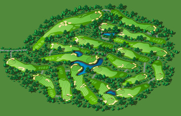 FototapetaGolf course layout