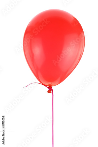 Deurstickers Ballon Red balloon isolated on white background