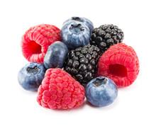 Fresh Ripe Berry On A White