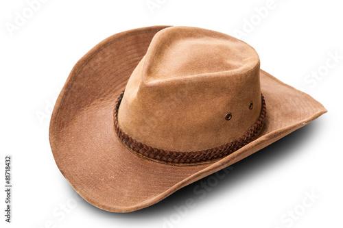 Fotografía  Sombrero de vaquero de cuero de cerca