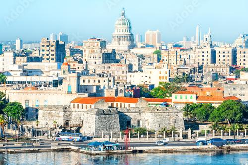 General view of Old Havana Canvas Print