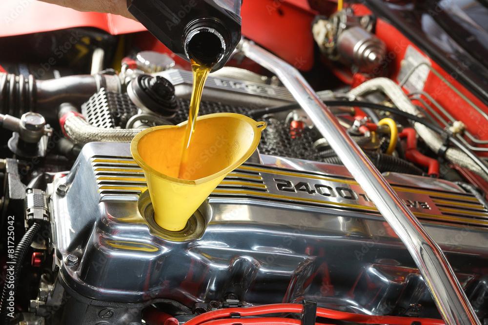 Fototapety, obrazy: Engine oil change