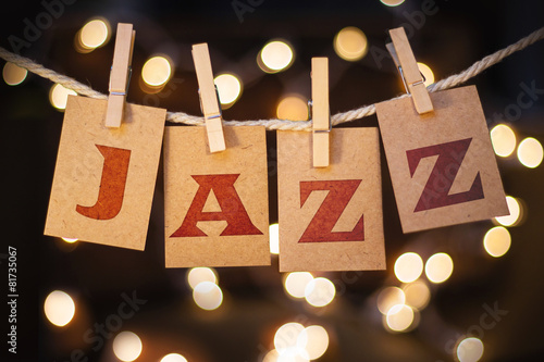 Photo  Jazz Concept Clipped Cards and Lights