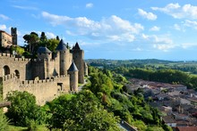 Beautiful Hilltop Fortress Of Carcassonne, France