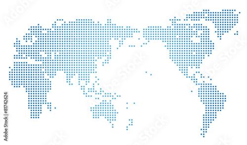 Photo Stands World Map 世界地図・ドット素材・四角ドット
