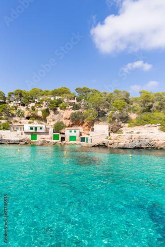 Foto auf AluDibond Stadt am Wasser Majorca Cala Llombards Santanyi beach Mallorca