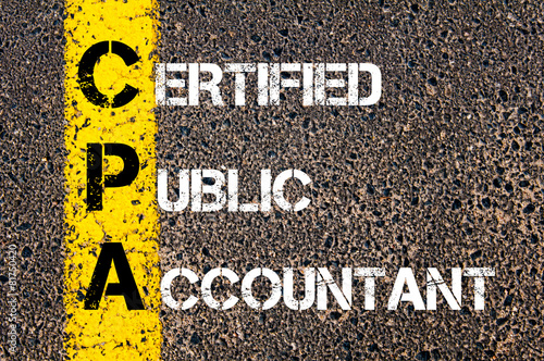Photographie  Business Acronym CPA – Certified Public Accountant
