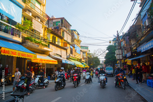 Photo  Asia. The Capital Of Vietnam. Street in Hanoi.