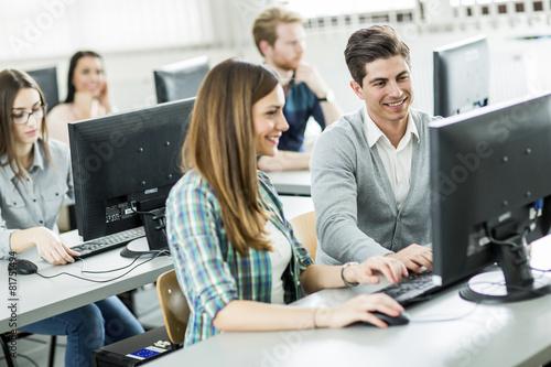 Fotografía  Los estudiantes en el aula