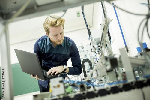 Fotografie, Obraz  Inženýr v továrně