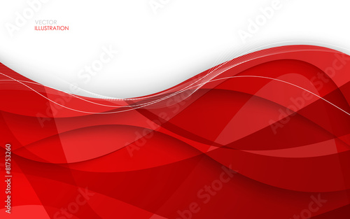 Fototapeta Abstract red background. Vector Illustration obraz