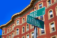 Harvard Street St In Cambridge Massachusetts