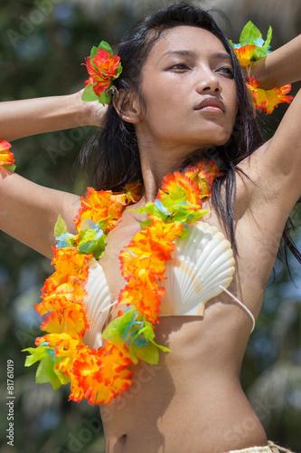 fototapeta na lodówkę Hawaje hula tancerz