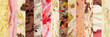 canvas print picture - Panorama aus vielen Sorten Eiscreme