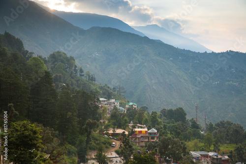Fotografie, Obraz  Sunrise over Dharamsala, India.