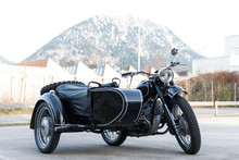 Old Black Oldtimer Motorcycle ...