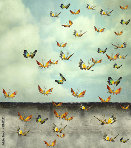 Wall Murals Surrealism Skyward