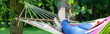 Girl On Hammock
