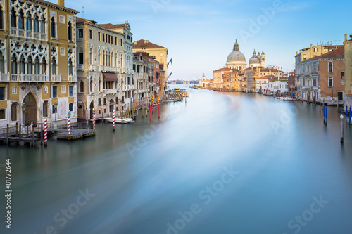 Fototapety, obrazy: Long exposure of grand canal in Venice, Italy.