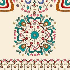 Hand drawn flower pattern mandala