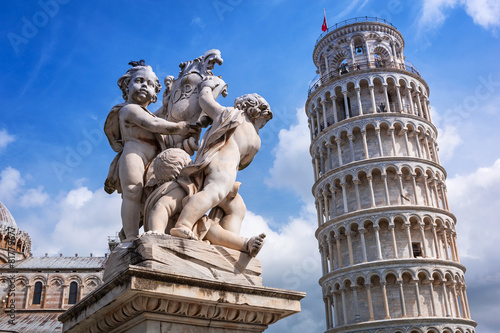 Leaning Tower of Pisa at sunny day, Italy Slika na platnu