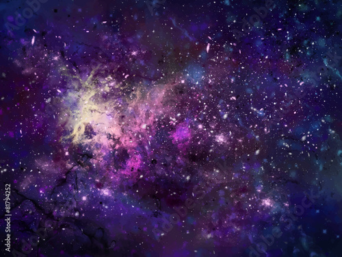Galaxy background illustration, deep and colorful Canvas Print