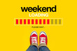canvas print picture - Weekend Loading Concept