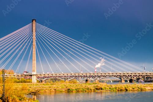 fototapeta na szkło Warszawa Most Świętokrzyski
