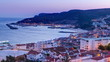 Twilight after sunset in Sesimbra, Portugal timelapse