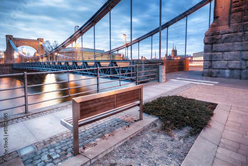 Obraz Wrocław Most Grunwaldzki - fototapety do salonu