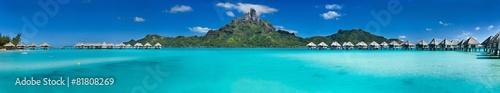 Foto auf Gartenposter Strand Bora Bora panorama