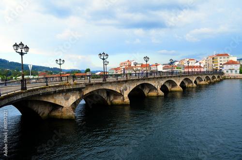 Medieval bridge of Pontevedra (Galicia, Spain)