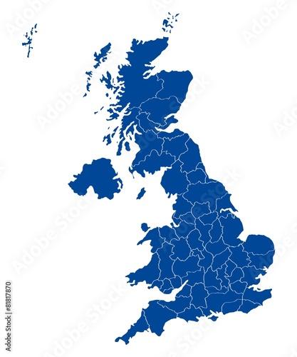 Fotografie, Obraz  Map of United Kingdom