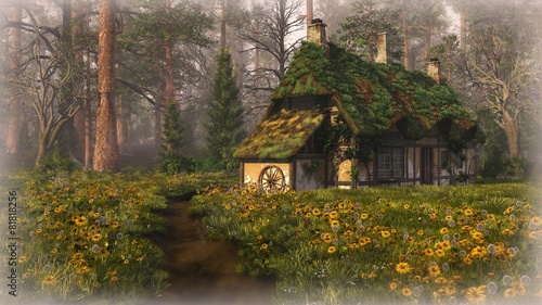 Photo  Hut on the Edge of the Forest, 3d cg