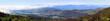 panorama with Nuwara Eliya and mountains around