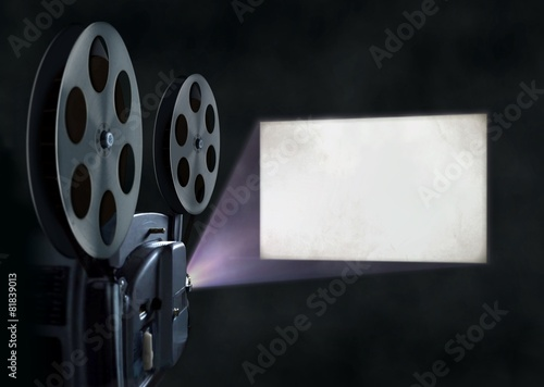 Movie projector and blank screen #81839013