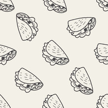 Burrito Doodle Seamless Patter...
