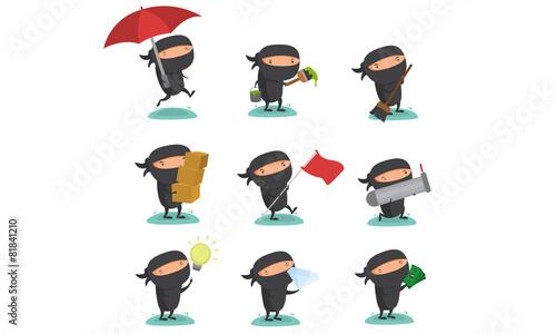 Photo Ninja Mascot Set 8