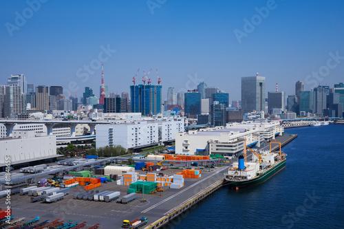 Fotografie, Obraz  東京港