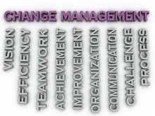 3d Image Change Management   Issues Concept Word Cloud Backgroun